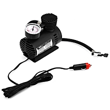 Universal 12V 300PSI Portable Mini Car Tire Inflator Pointer Table Air Compressor Pump for Motorcycle Bicycle-BLACK