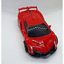 Manual Lamborghini Transformer Toy car-red