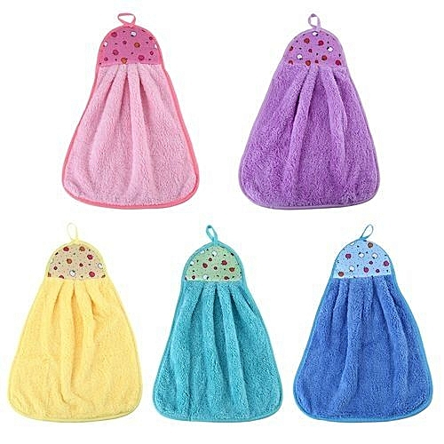 Hanging Kitchen Towel / hand Towel Set of 6 Assorted Colors (colors may vary )