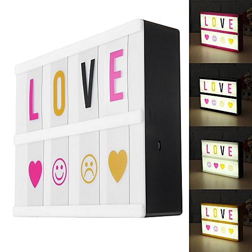 a5 usb cinematic led light up letter box cinema house wedding diy message board black