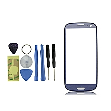 Home-BLUE REPLACEMENT FRONT OUTER SCREEN GLASS LENS FOR SAMSUNG GALAXY S3 SIII I9300