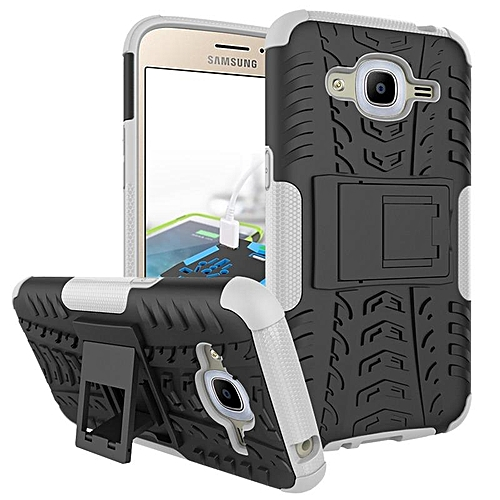 lowest price 36cbc 08dc2 TPU And PC 2 In 1 Phone Case Cover With Kickstand Rugged Armor Dazzle Back  Case Cover For Samsung Galaxy J2 2016 825922 Color-6