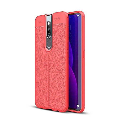 Litchi Texture TPU Shockproof Case for OPPO F11 Pro (Red)