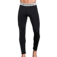 Mens Thick Warm Long Johns Autumn Winter Mid Rise Solid Color Sleepwear