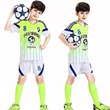 Customized Blank Children Boy's Football Soccer Team Training Top Jerseys Set -Green