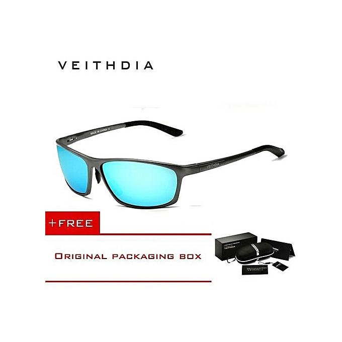fa8f840715 Fashion VEITHDIA Brand Polarized Aluminum Magnesium Wrap Mens Sun Glasses  Male Sport Outdoor Sunglasses Mirror Eyewear For Men 6520 (Color Blue)