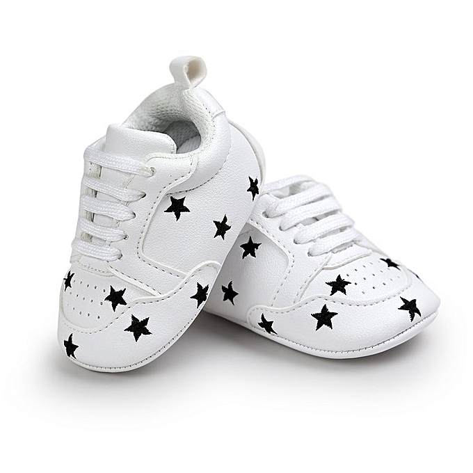 0bd30cf3 Baby Shoes Soft Sole Toddler Footwear Children Sneakers Outdoor Kids Shoes  white&black star 12cm