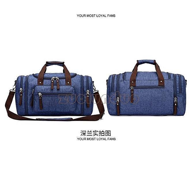 ... Unisex casual outdoor travel canvas handbag multi-function large  capacity duffle bag weekender bag ... 2f1a783344e15