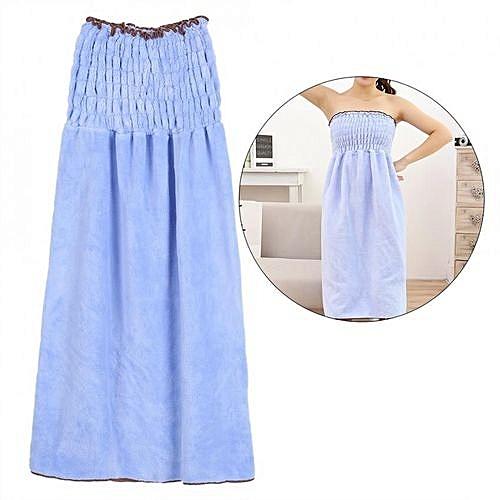 b9b51f5530 Generic Women Coral Velvet Warm Towel Wrap Bathrobe Shower SPA Bath Robe  Cozy Sexy Body Blue