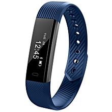 ID115 Smart Bracelet with Fitness Tracker, Passometer - Blue