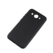 Huawei Y3 2017 Back Cover - Silicone Rubber Finish Black