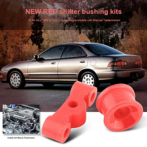 2Pcs Red Polyurethane Car Auto Shifter Bushing Kit For Honda Civic 84-87  Acura Integra 94-01