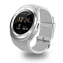 Y1 Sporty Smart Phone Touchscreen Watch - White