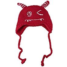 Unisex Knitting Lacing Wool Hat - Blue