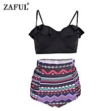 Falbala High Waist Bikini - Black