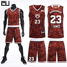 Team And Number Customized Students Men  039 s Basketball Sport Jersey-Dark  Red d0999d862