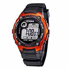 SYNOKE Kids Watches Children LED Digital Watch Girls Wrist Watch Boys Clock Child Sport Digital-watch For Girl Boy Surprise Gift(Orange)
