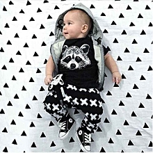 New Style New Baby Girls Boys Tops T-shirt+Pants Leggings 2pcs Outfits Set Clothes 0-24M