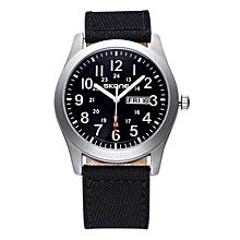 SKONE 3903 SKONE Men Sport Watch Fabric Band 24 hour Watch Clock Week Date Analog Quartz-watch Casual Military Army Watch relogio masculino JY-M