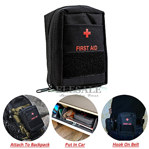 Portable Military First Aid Kit Empty Bag Bug Out Bag Water Resistant For  Hiking Travel Home Car Emergency Treatment IFAK(# )