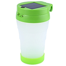 Portable LED Solar Cup Light For Camping(GREEN)
