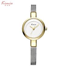 KIMIO-KMO6115 Quartz watch fashion bracelet watch fashion female form GOLD WHITE