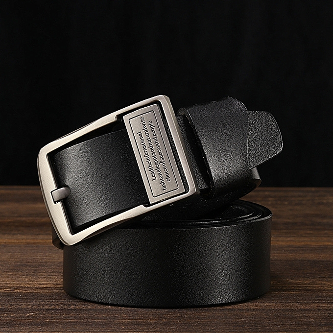 0b3a37574 Men s leather belt men s belt fashion casual leather jeans with pure  leather belt-140CM-