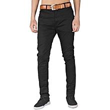 6e8c60c314e Soft Khaki Men  039 s Trouser Stretch Slim Fit Casual- Black