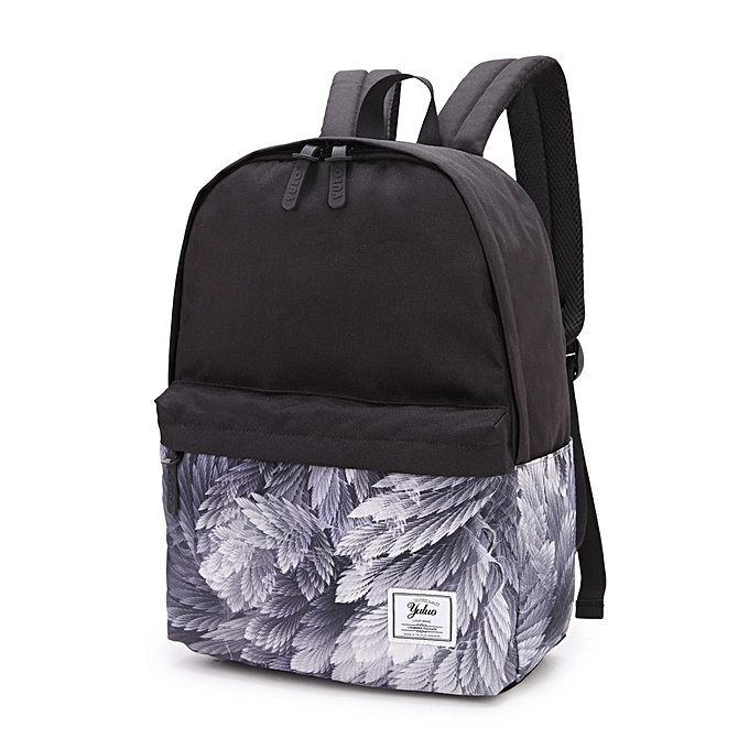 Printed Backpack Campus Wind High School Student Bag College Purple