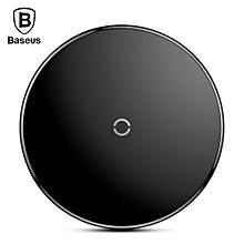 Baseus BSWC - P10 Simple Wireless Charger Aluminium Alloy Glass 10W-BLACK
