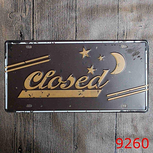 1 Psc Vintage Metal Poster Wall Decor Tin Sign Wall Hanging Bar Cafe Home  Decor