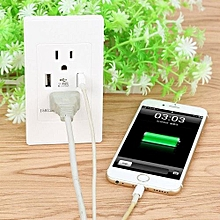 2.1A USB Wall Charger Dual Socket Adapter US Standard Outlet Panel Q6
