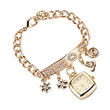 Gold Beautiful Love Watch Chain Bracelet