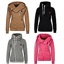 Women Long Sleeve Hooded Hoodies Sweatshirt Jumpers Zip Up Jacket Outwear Coat
