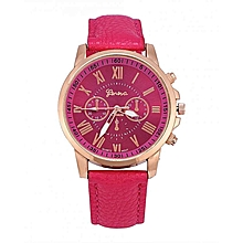b89c58478 Fashionable Lady Girl Quartz Analog Round Watch Wristwatch