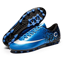 New Football Shoes Diamond Blue AG Nail Sneakers Roundabout Scrub Head-Blue