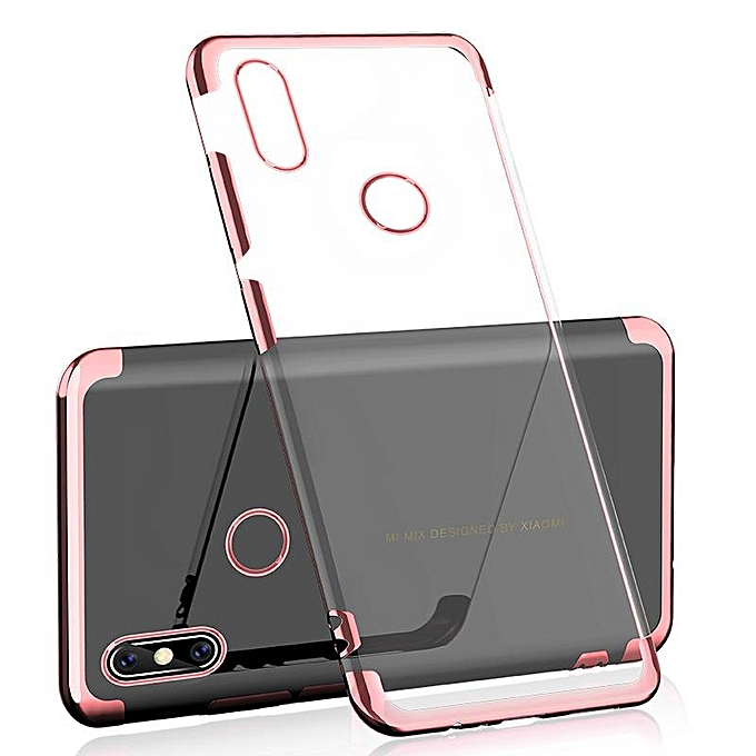 For Xiaomi Mi A2 Soft Case Transparent Plating Electroplate Shining Clear Casing For .