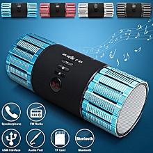 3.0 Mini Portable Hifi Stereo Audio Wireless Bluetooth Mini Card Speaker TF FM Colorful LED Subwoofer MP3 Boombox Sound Box For Smart Phone Computer TV PSP - Blue