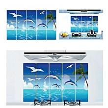 Dolphins Animal Removable Art Mural Home Decor Wall Sticker-Blue