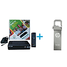 Phelister Free To Air Digital Decoder - Plus Free 16GB HP Flash Disk