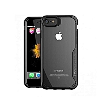 Apple iPhone 7Plus Cover Drop-proof PC + TPU Hybrid Phone Case - Black