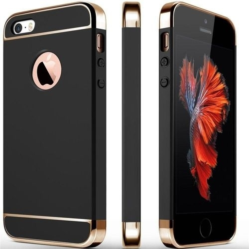 generic ruilean 3 in 1 metal texture case for iphone se for iphone