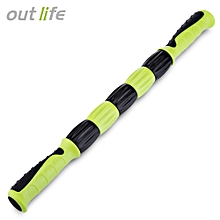 Portable Therapy Fitness Massager Muscle Full Body Roller Pain Relief Stick - Green