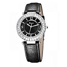 Black Strap Dress Watch