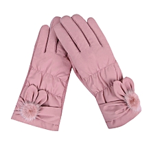 Africanmall store Womens Windproof Gloves Winter Outdoor Sport Ski Gloves-Pink