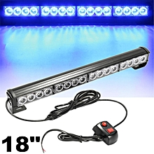 "18"" LED Amber Light Emergency Warning Strobe Flashing Yellow Bar Hazard Security #Blue"