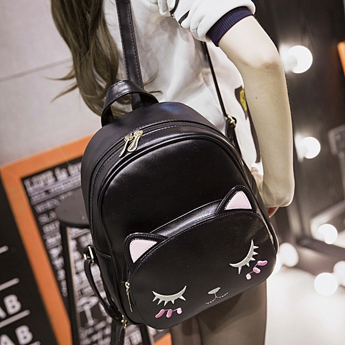 Blackbackpack Female Han Ban S Pu Shoulder Bag Lovely Ms Feng In College Of Kitty