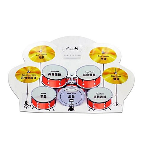 Buy Generic Portable 9 Pad Drum Roll Up Electric Drum Set Material