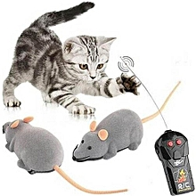 New Cat Toy Wireless Remote Control Mouse Electronic RC Rat Mice Pet Gray