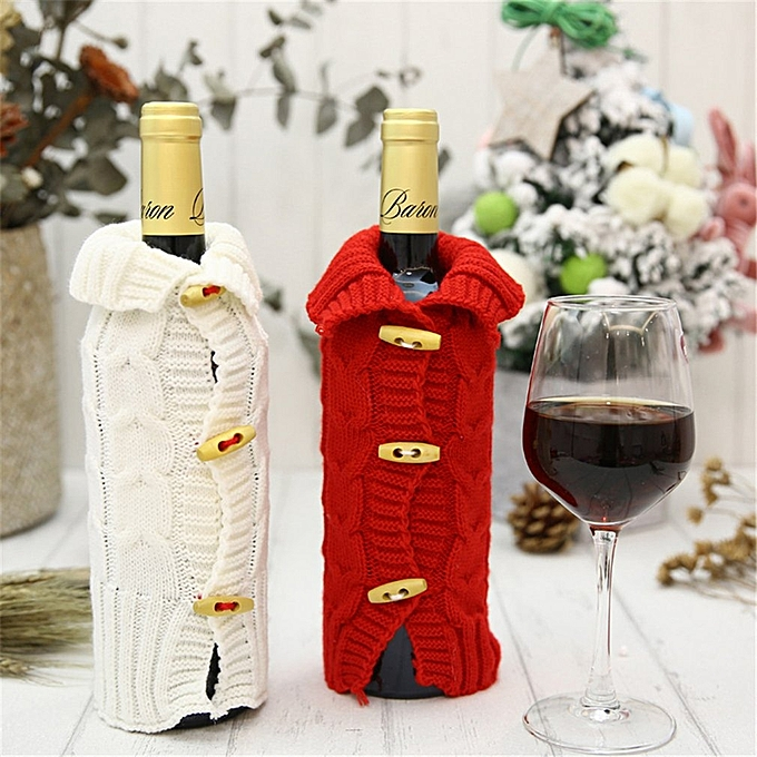 Allwin Christmas Wine Bottle Decor Bottle Cover Wine Bottle Cloth